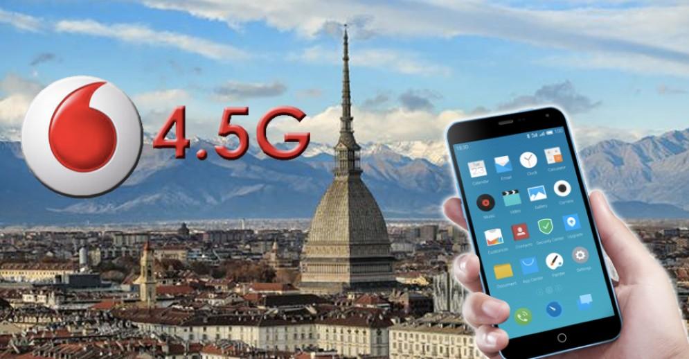 Vodafone lancia la rete 4.5G a Torino