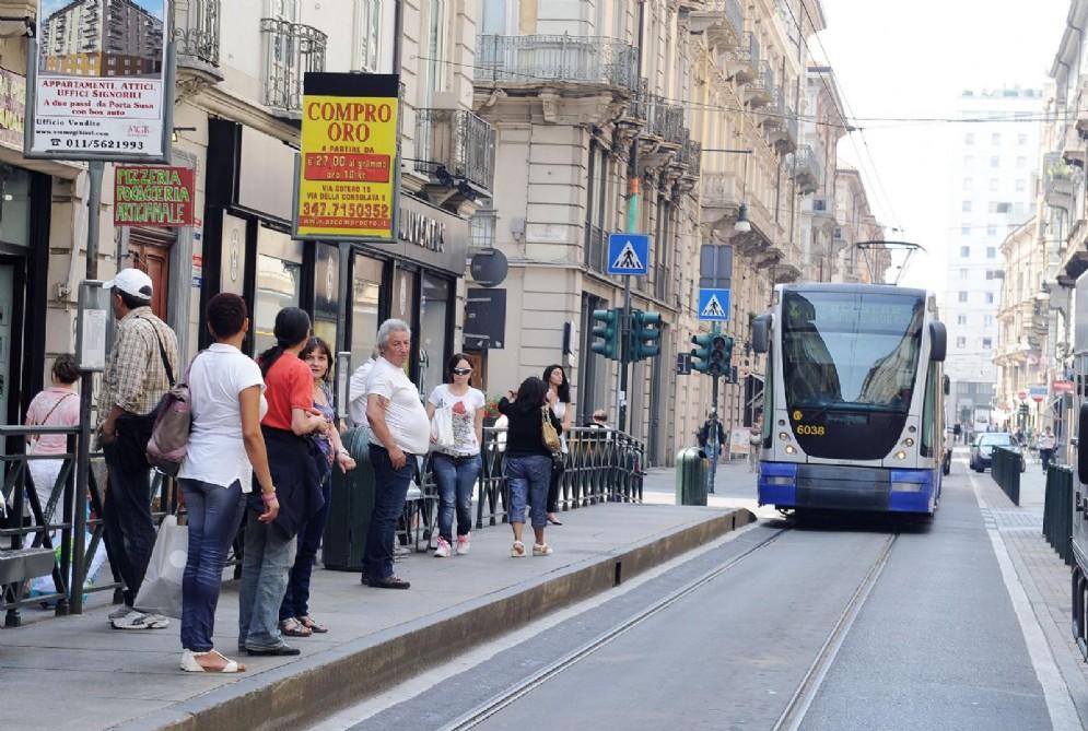Il tram della linea 4