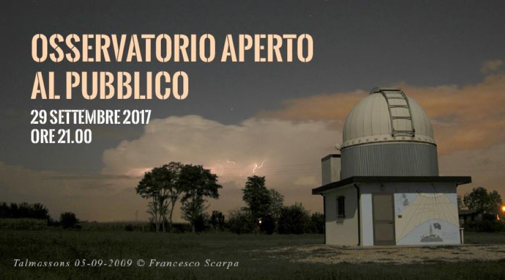 Talmassons, l'Osservatorio astronomico apre al pubblico
