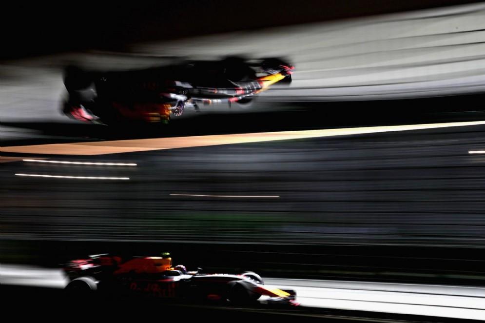Ricciardo al volante della Red Bull nelle prove libere a Marina Bay