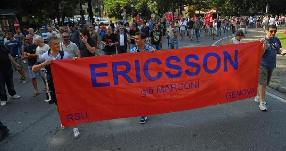 Manifestazione dei dipendenti della Ericsson