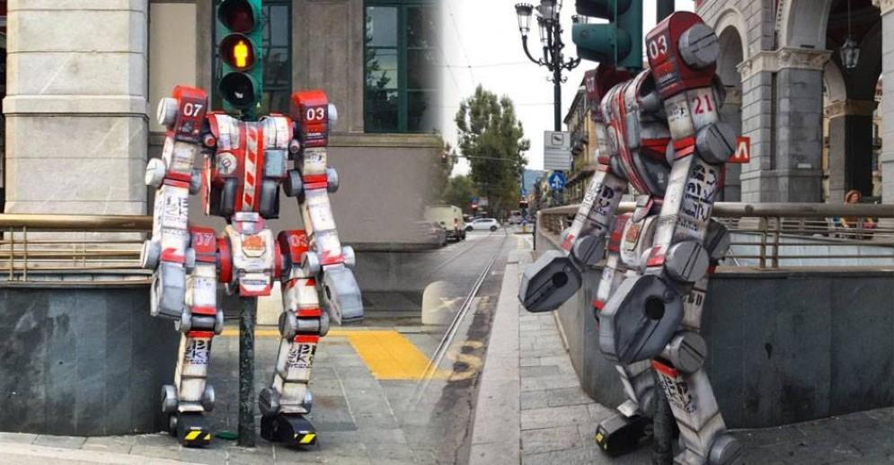 Il Transformer davanti a Porta Nuova