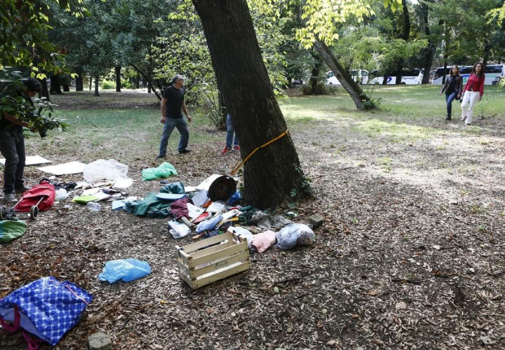 Il punto dei giardini di Villa Borghese in cui è stata ritrovata la turista tedesca violentata