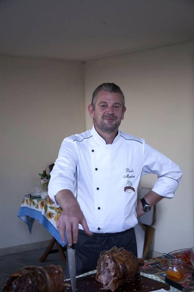 Lo chef Paolo Martini
