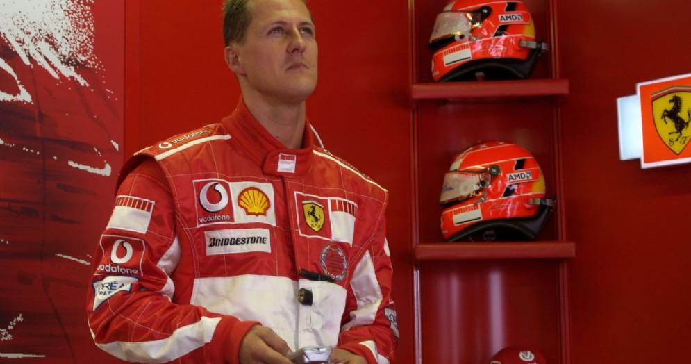 Michael Schumacher ai tempi in cui correva con la Ferrari