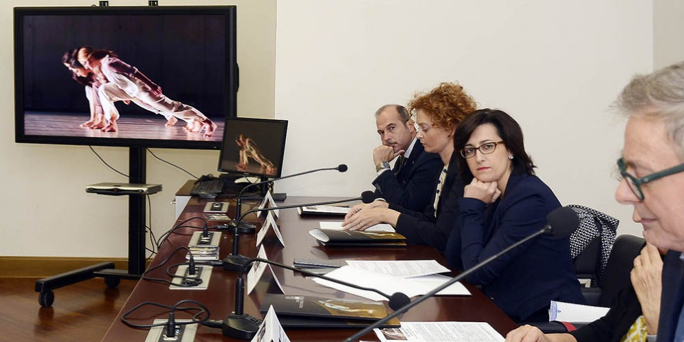 Sara Vito alla presentazione della New Italian Dance Platform