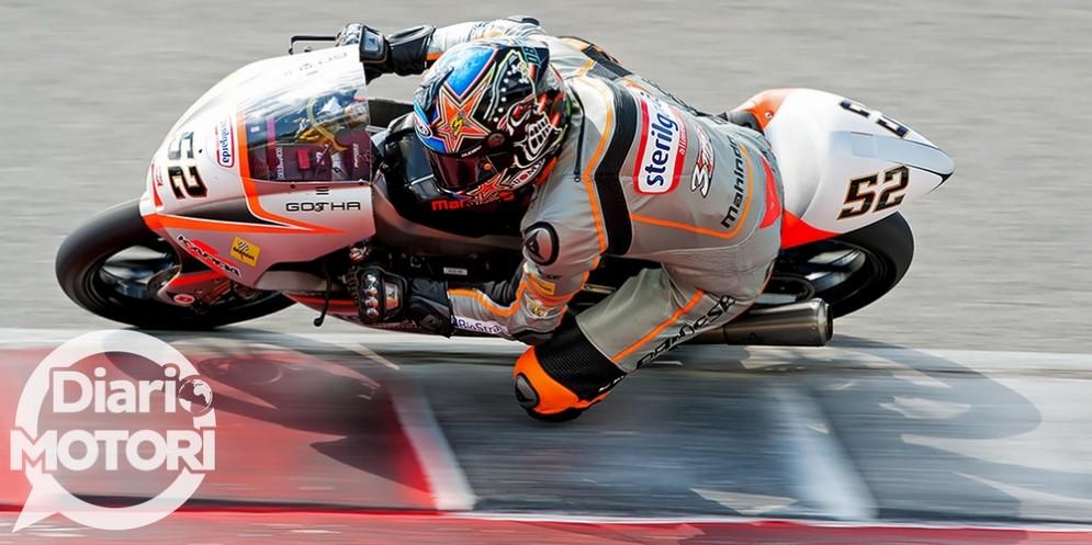 Alessandro Delbianco in sella alla Mahindra del Max Racing Team