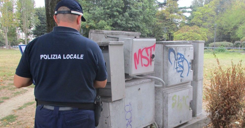 I controlli della polizia municipale di Torino