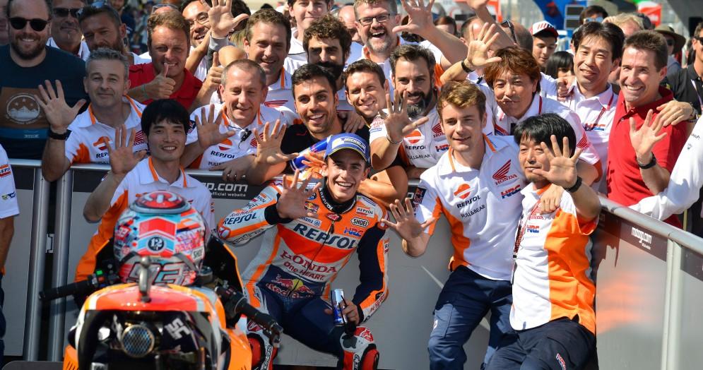 Marc Marquez festeggia il quinto successo stagionale in Aragona