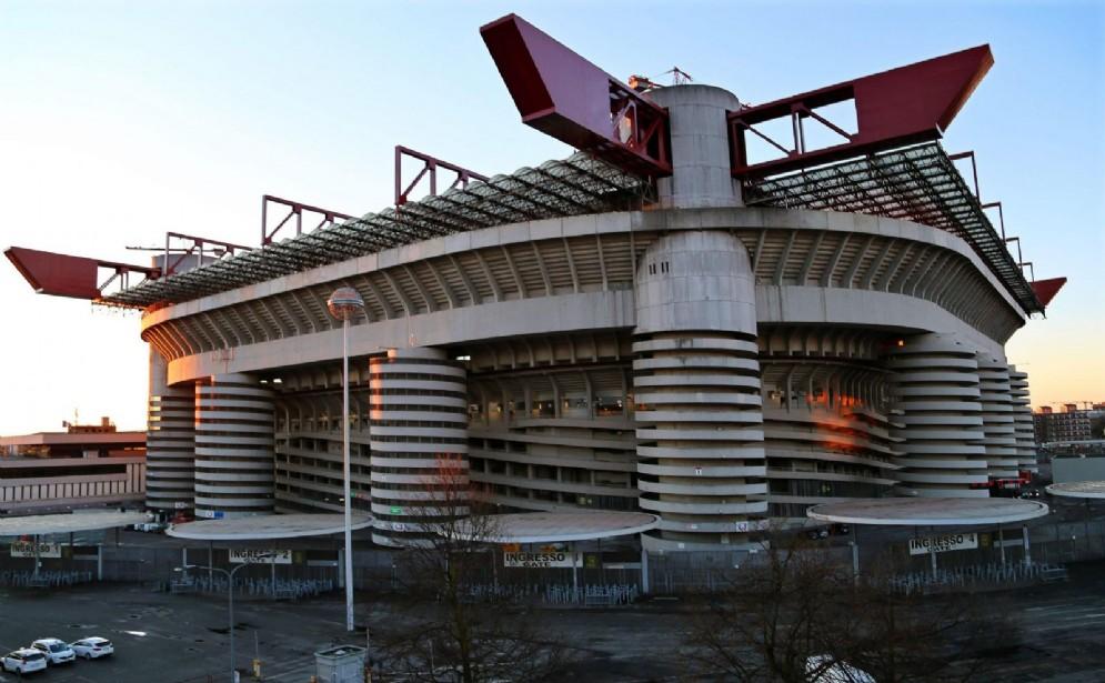 Lo stadio San Siro di Milano ospita le gare di Inter e Milan