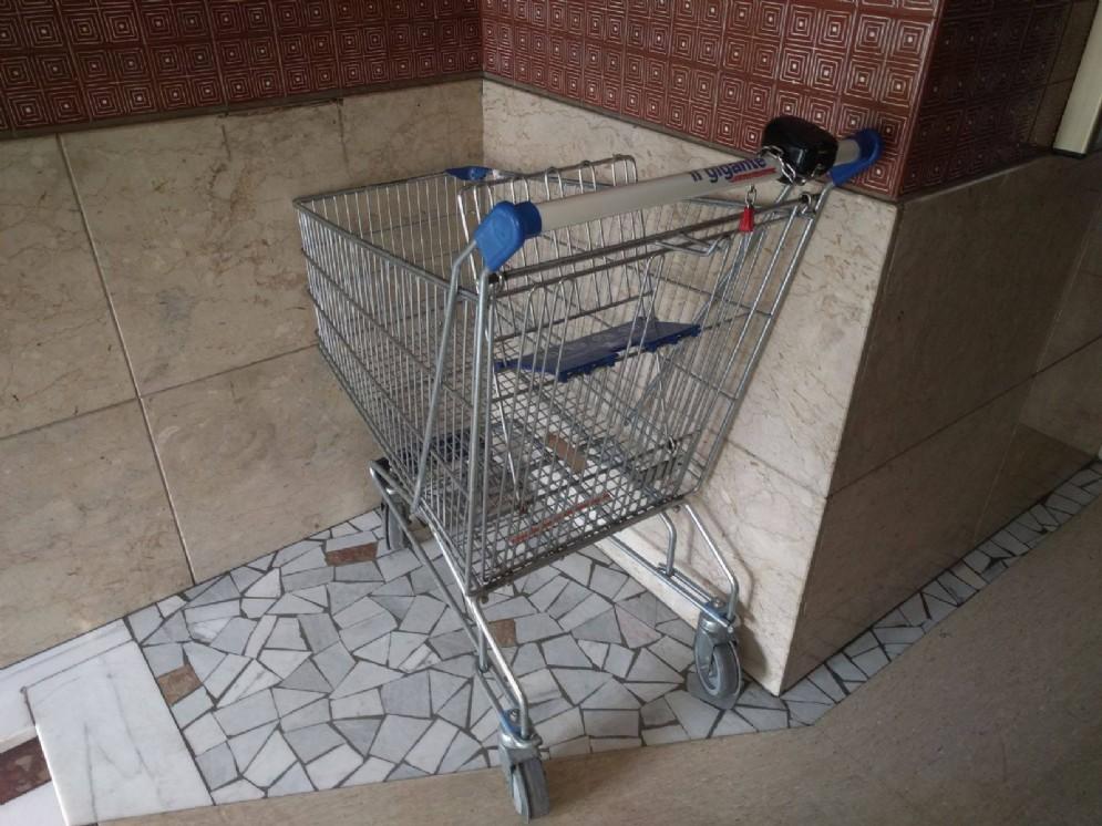 Carrelli abbandonati nel condominio