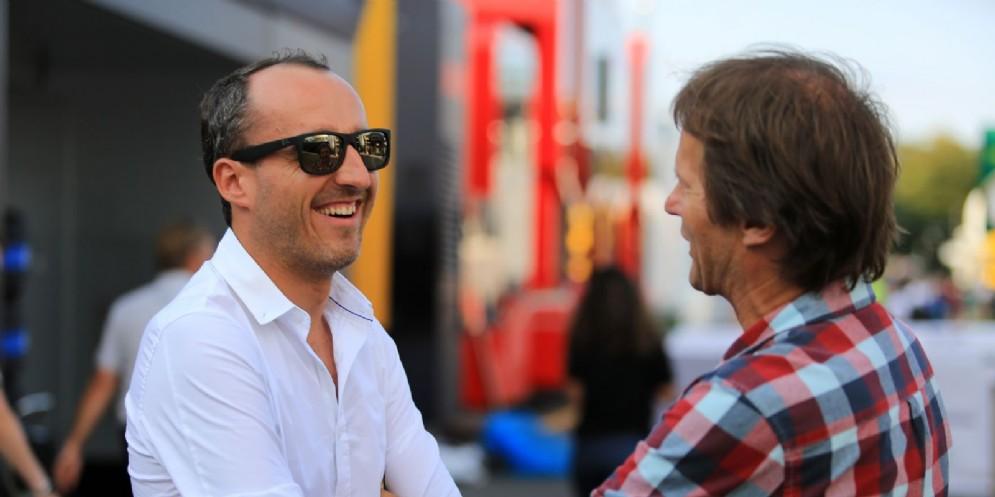 Robert Kubica nel paddock dell'ultimo Gran Premio d'Italia