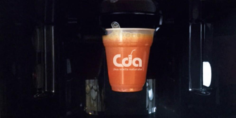 Cda presenta Fru-Veg drink, estratto di frutta al distributore automatico