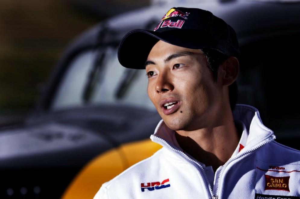 Il collaudatore della Honda Hiroshi Aoyama