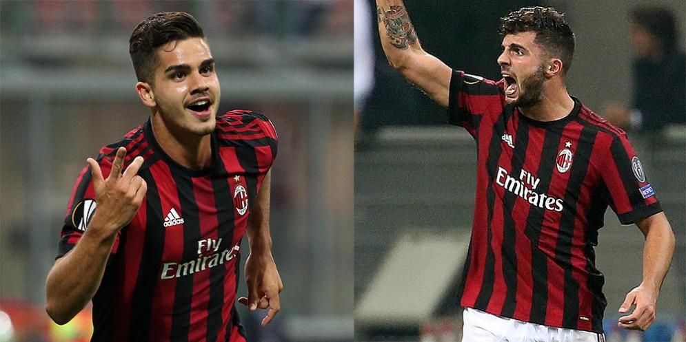 Andrè Silva e Patrick Cutrone, attaccanti del Milan
