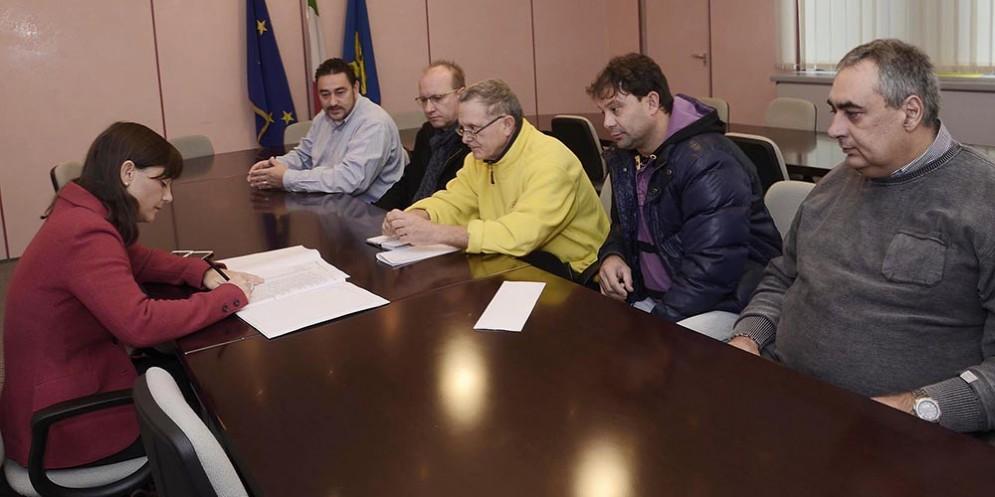 Debora Serracchiani (Presidente Regione Friuli Venezia Giulia) incontra rappresentanti sindacali di Leonardo Finmeccanica
