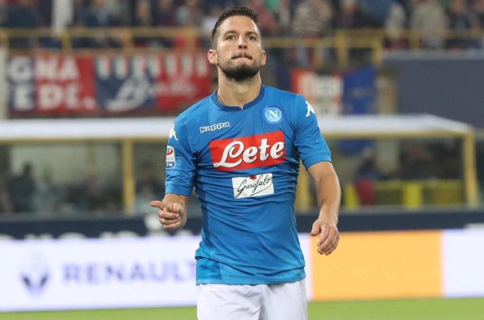 Dries Mertens, attaccante del Napoli e della nazionale belga, uno dei candidati al Pallone d'Oro