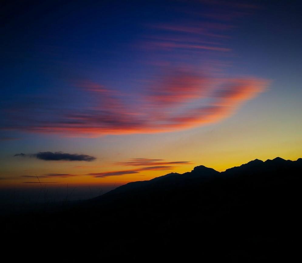 Spettacolare tramonto dall'Oasi Zegna