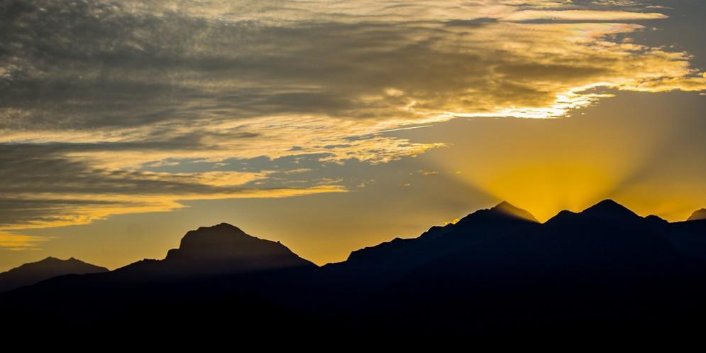 Tramonto dall'Oasi Zegna (© Francesco Martinetti)