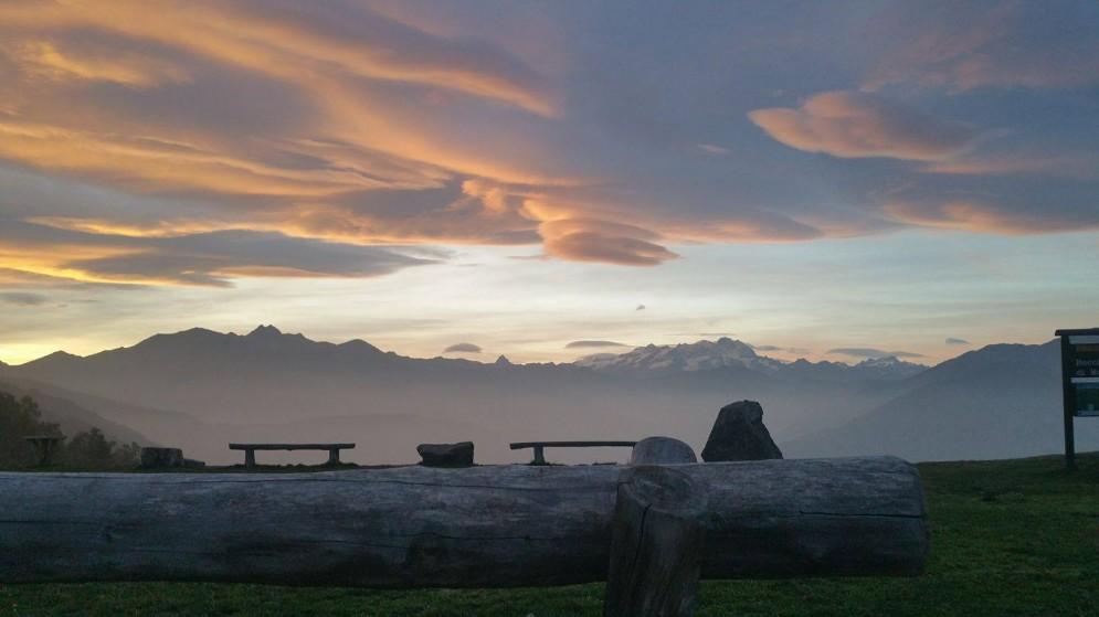Oasi Zegna tramonto dal Bocchetto Margosio