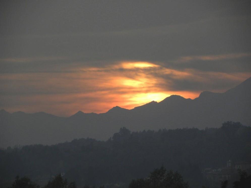 Suggestivo tramonto sulle nostre montagne
