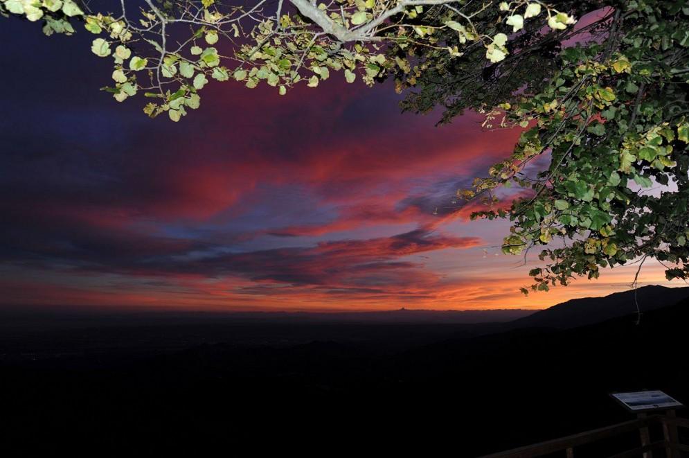 Oasi Zegna tramonto dal Bocchetto Luvera