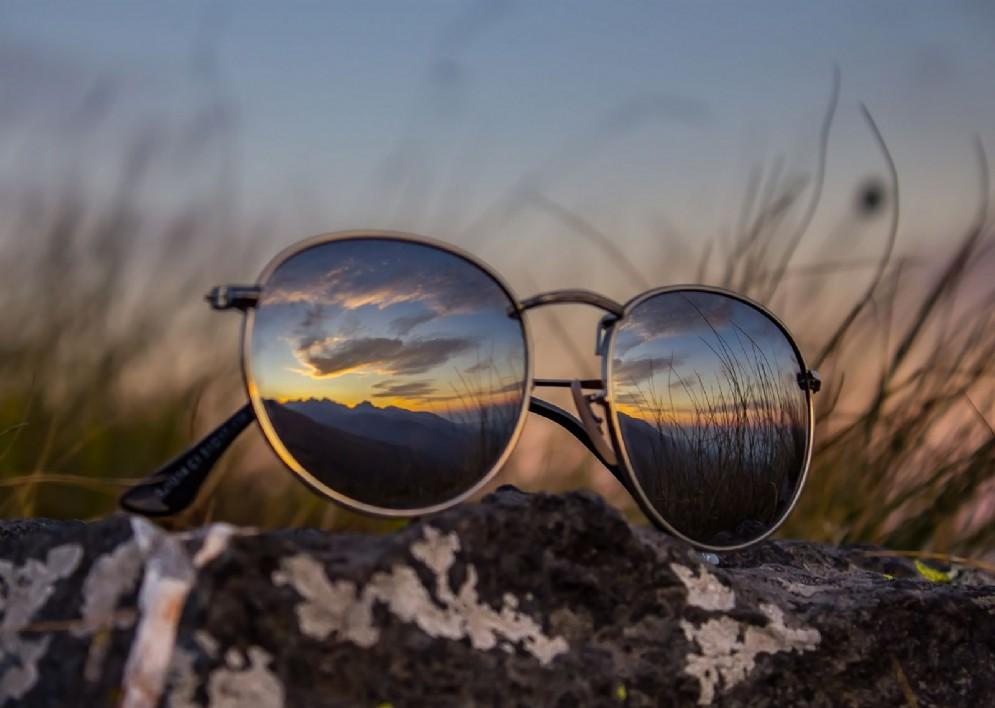Il riflesso di un tramonto all'Oasi Zegna