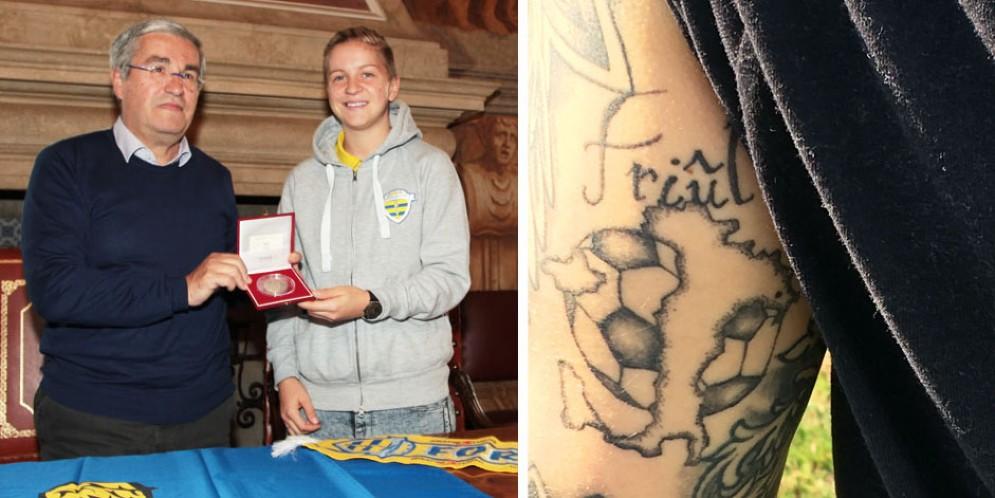 Clelland premiata dalla Provincia per i suoi gol e per il suo attaccamento al Friuli
