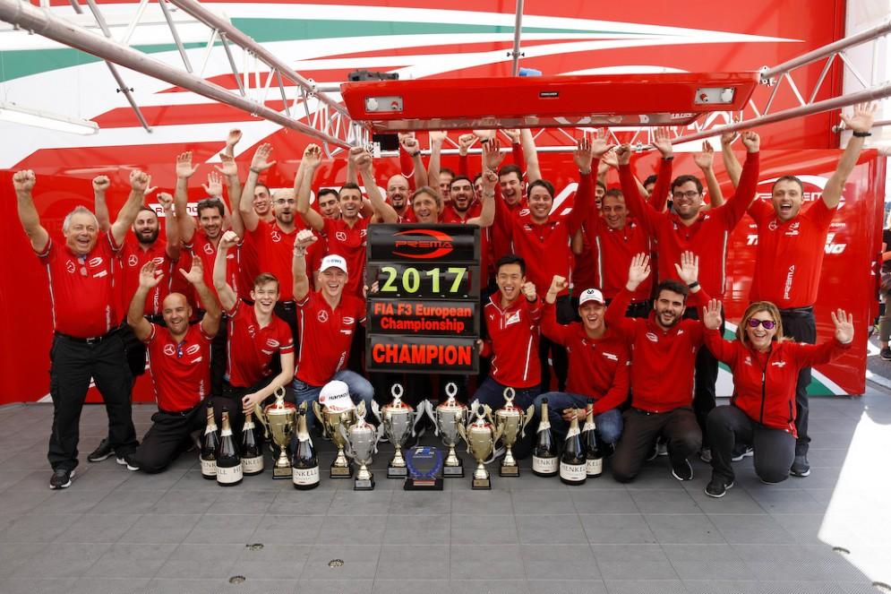 L'italiana Prema festeggia il titolo a squadre dell'Europeo di Formula 3