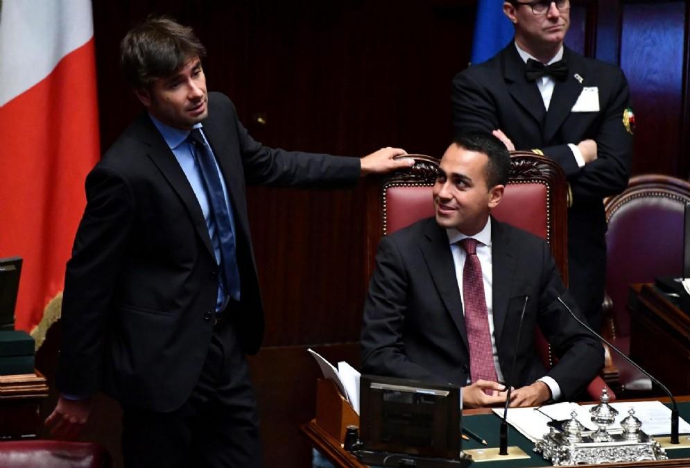 Il leader M5s Luigi Di Maio con Alessandro Di Battista