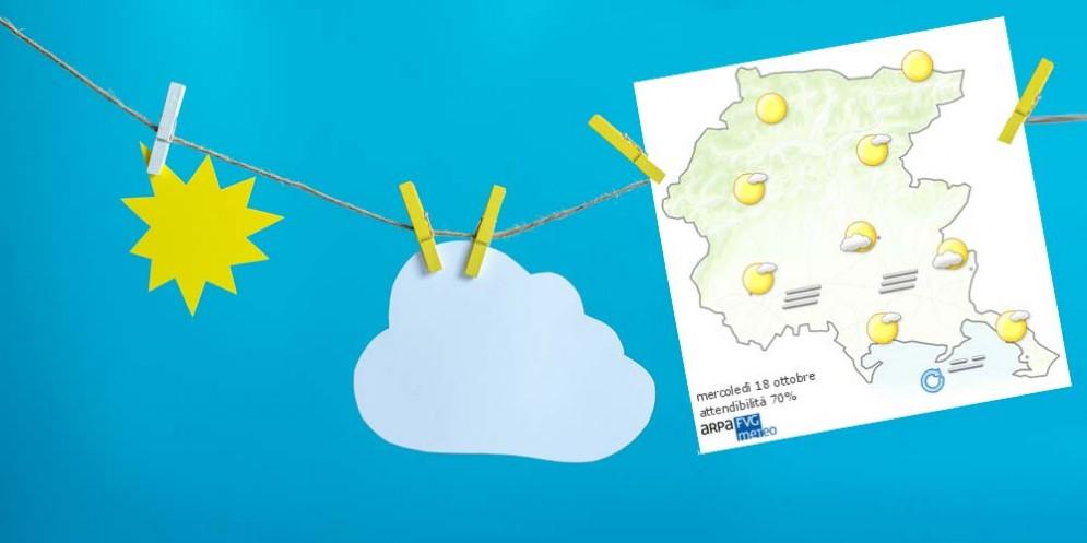 Che tempo farà mercoledì 18 ottobre? Ve lo dice l'Osmer Fvg