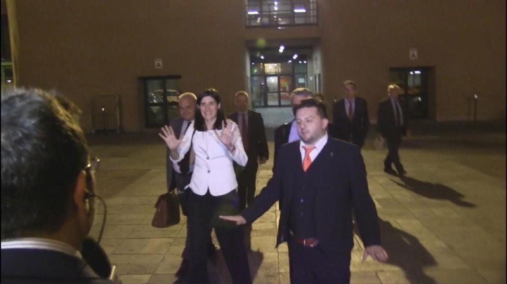 La sindaca Appendino all'uscita dalla Procura