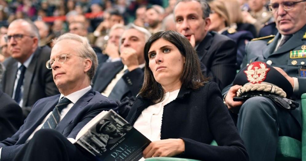 La sindaca Chiara Appendino durante la presentazione del libro «Dalla Chiesa» di Andrea Galli in ricordo del Generale Carlo Alberto Dalla Chiesa ucciso dalla mafia 35 anni fa a Palermo
