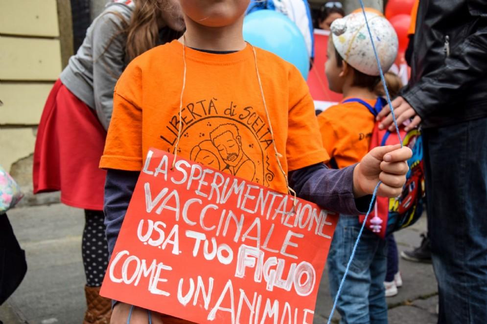 Manifestazione No Vax, sabato 21 ottobre (© Diario di Torino)