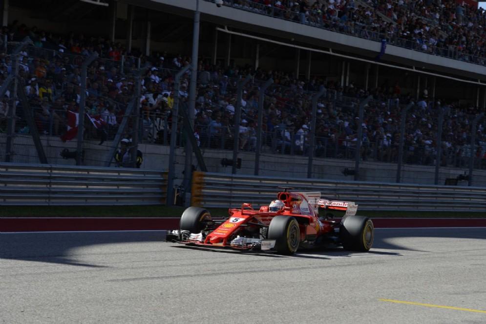 Sebastian Vettel taglia il traguardo secondo ad Austin