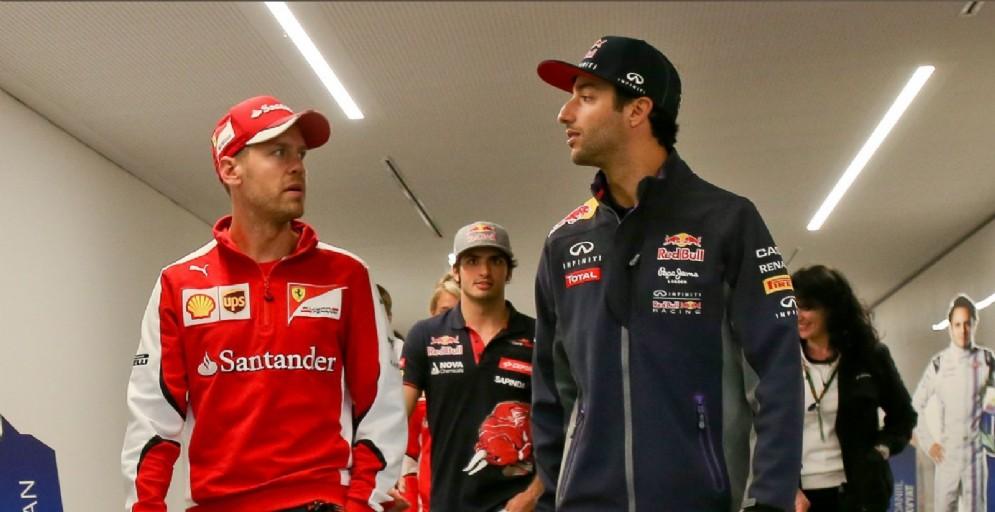 Sebastian Vettel e Daniel Ricciardo: la futura coppia Ferrari?