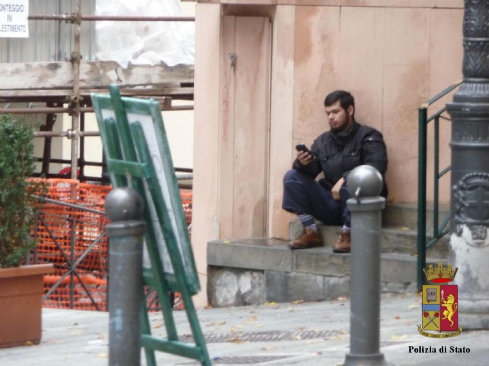 Una immagine, concessa dalla Polizia di Genova il 9 agosto 2016, di Jrad Mahmoud, presunto terrorista siriano arrestato a Varese