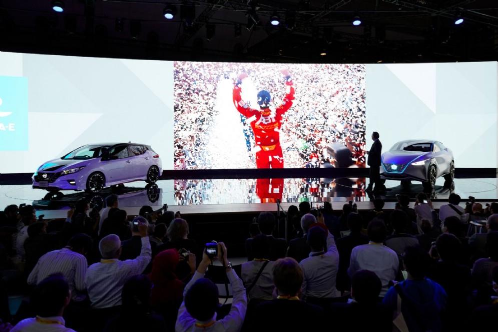 Lo stand Nissan al Motor Show di Tokyo