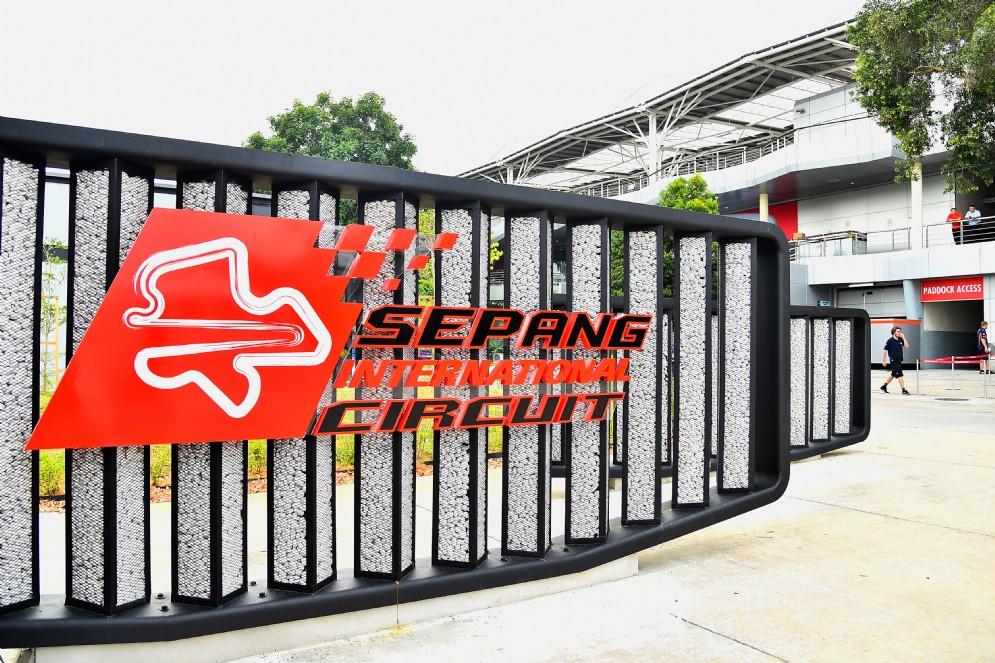 Il cartello del circuito internazionale di Sepang