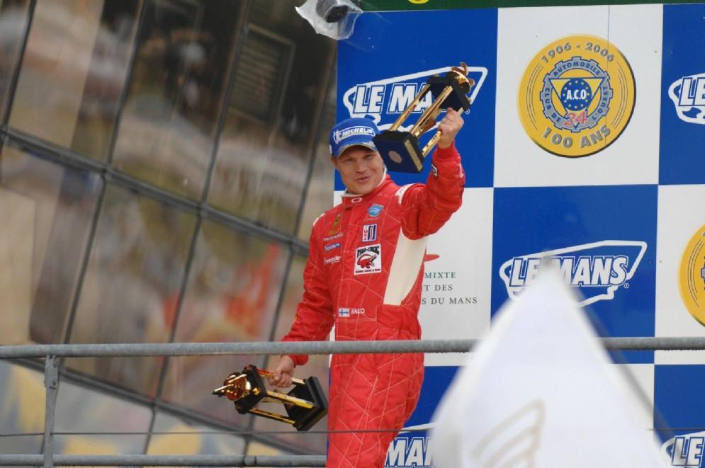 Mika Salo, il commissario minacciato di morte, ai tempi in cui correva per la Ferrari