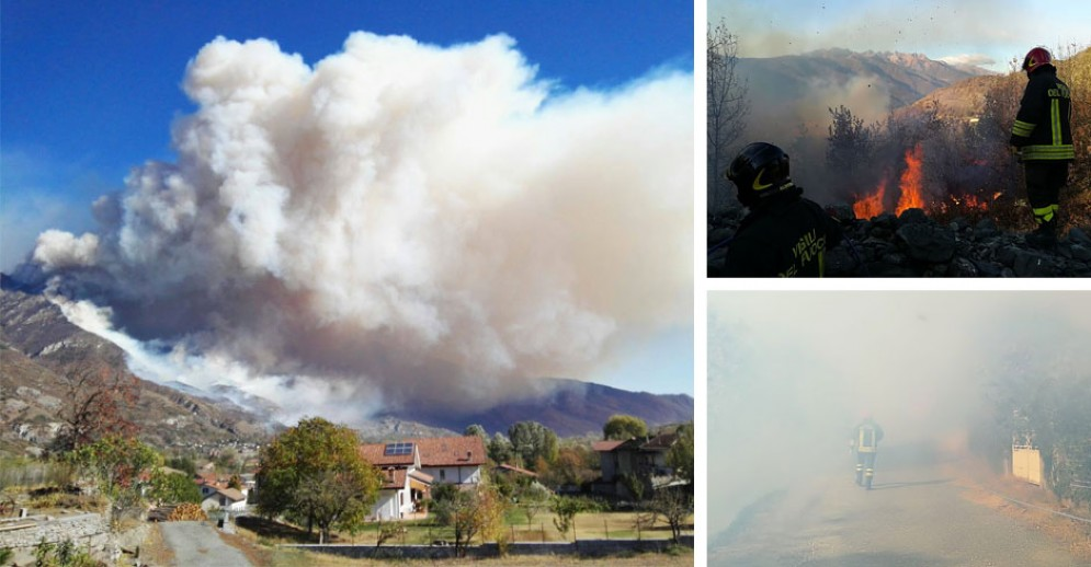 Le immagini devastanti dalla Valsusa, incendi ovunque (© Croce Rossa/Vigili del Fuoco)