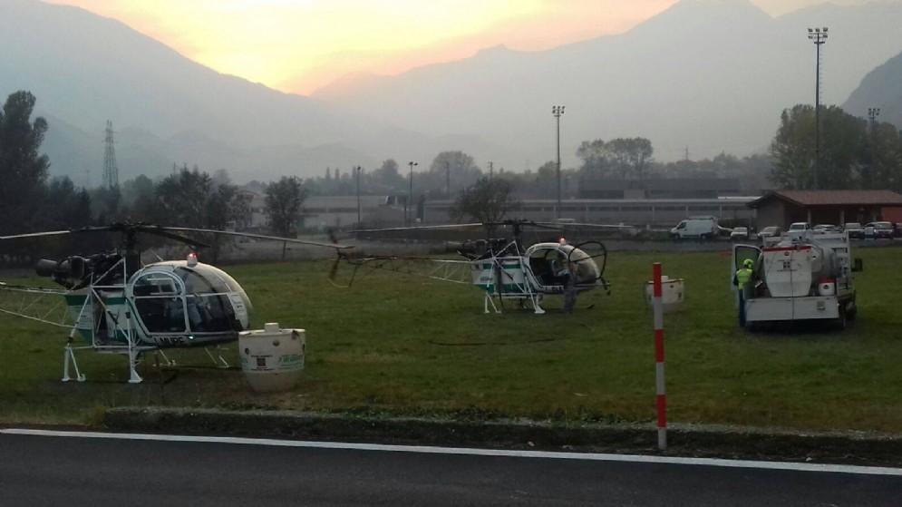 Elicotteri pronti al decollo