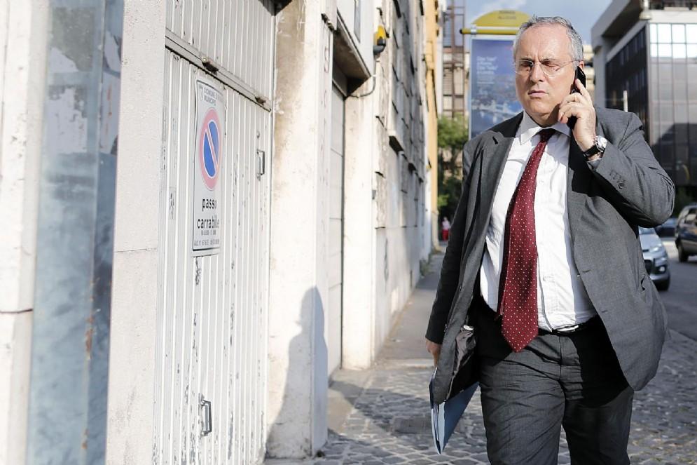 Claudio Lotito, presidente della Lazio dal 2004