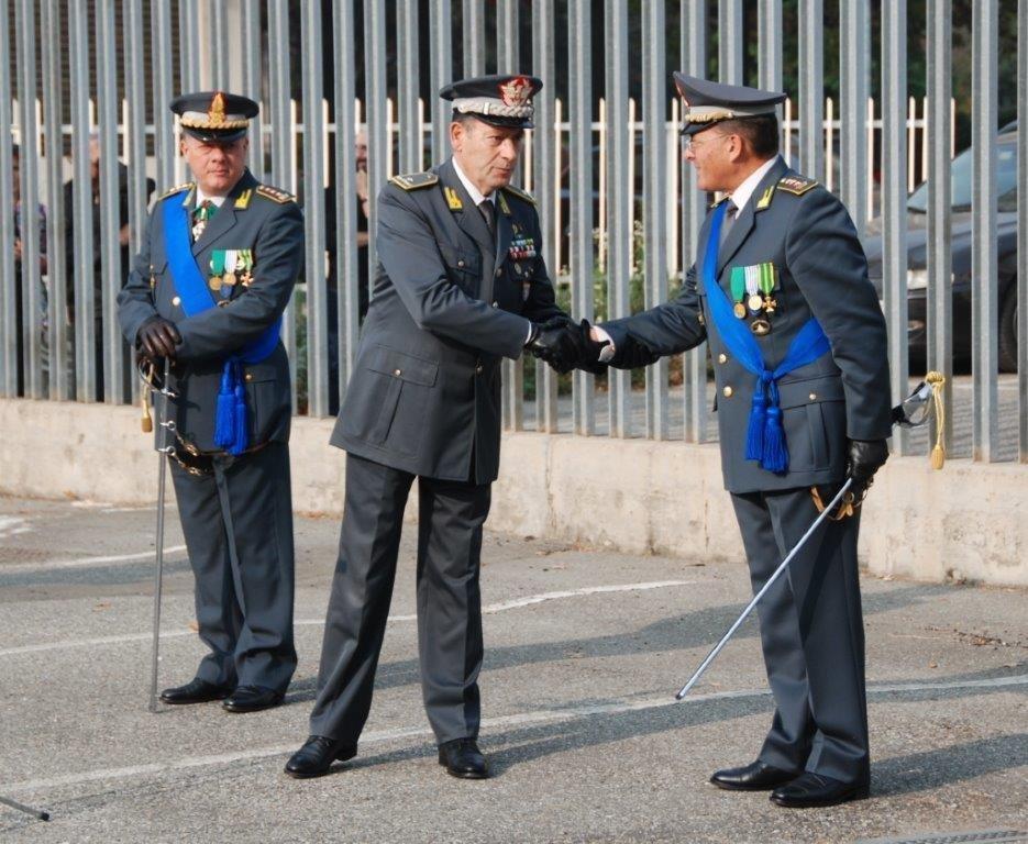 Ugo Raffaele Dallerice (a destra) ed il generale di brigata Giuseppe Grassi