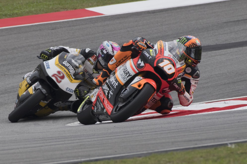 Luca Marini in sella nel venerdì del GP di Malesia