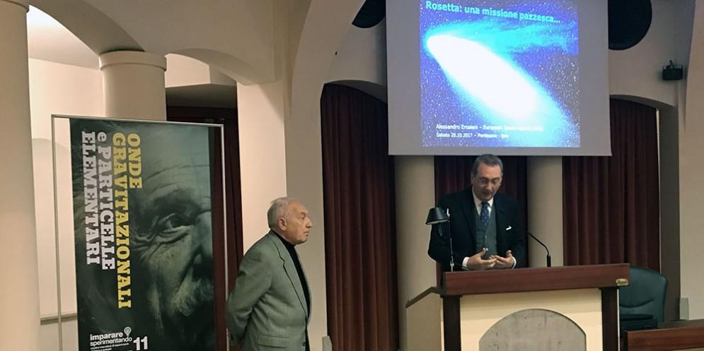 Intervento del vicepresidente della Regione Sergio Bolzonello in apertura dei lavori di uno degli appuntamenti del ciclo 'Imparare sperimentando' svoltosi a Pordenone