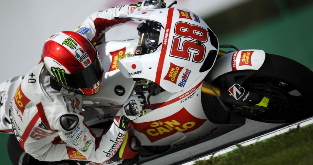 Marco Simoncelli in sella alla sua Honda