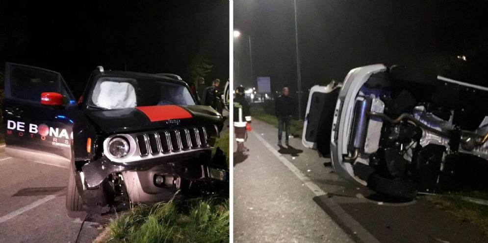 Tre auto si scontrano a Campoformido: 6 persone ferite