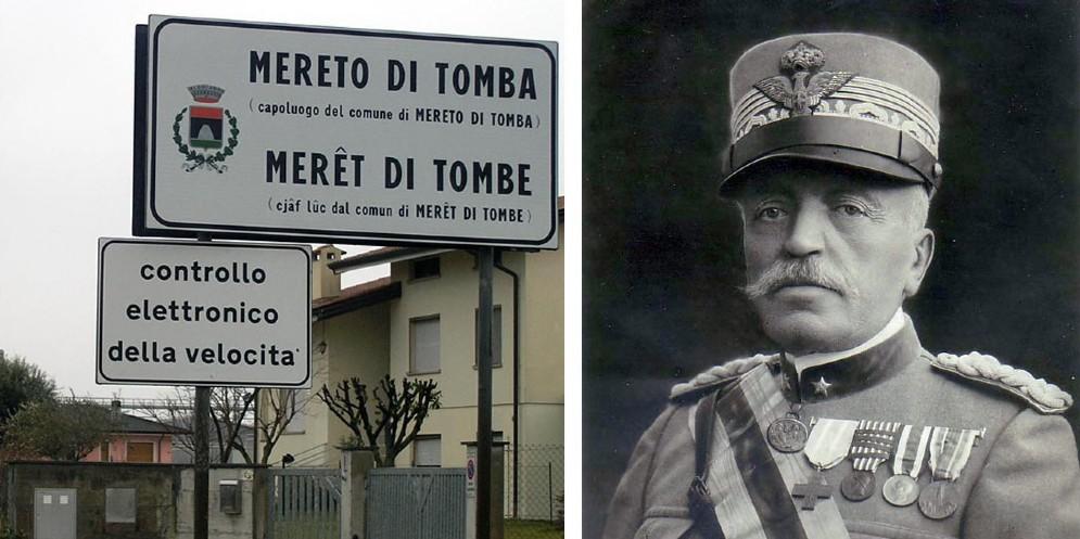 Mereto di Tomba 'scarica' Cadorna e cambia nome alla piazza