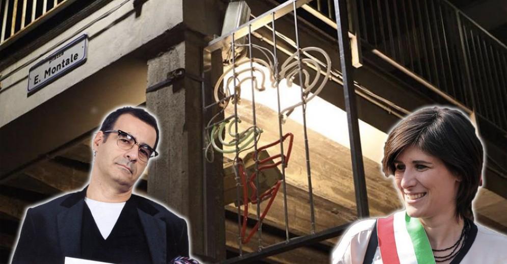Luci d'Artista in piazza Montale, polemiche dopo la distruzione a sassate